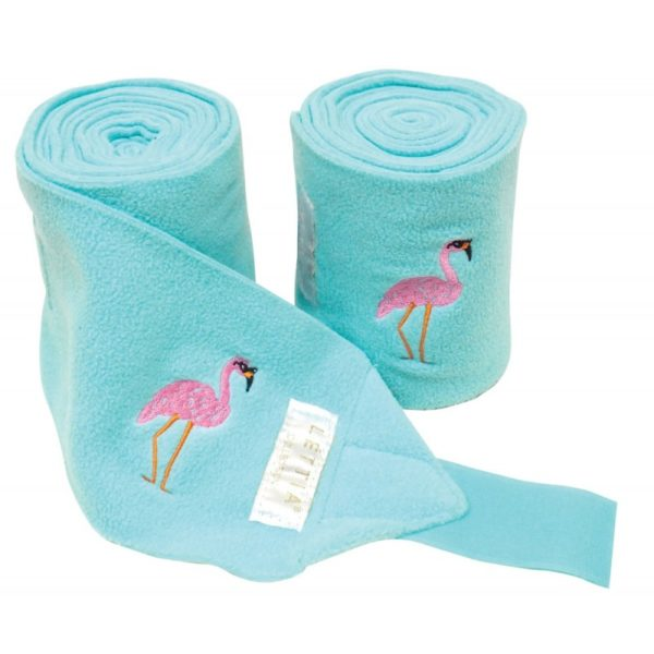 LÉTTIA Embroidered Flamingo Polo Wraps