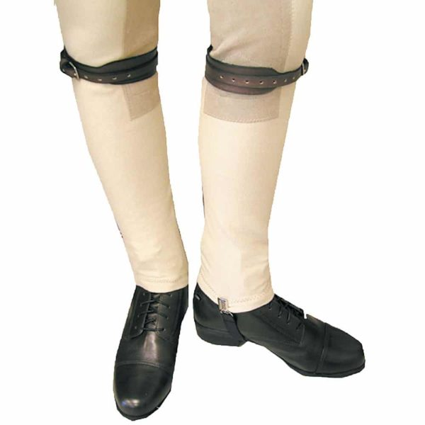 Leather Jod Garter Straps S Black