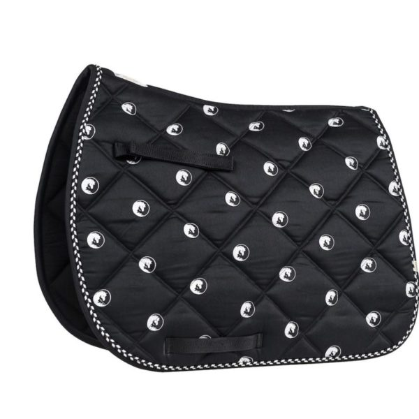 Lettia Ying and Yang Black and White Saddle Pad