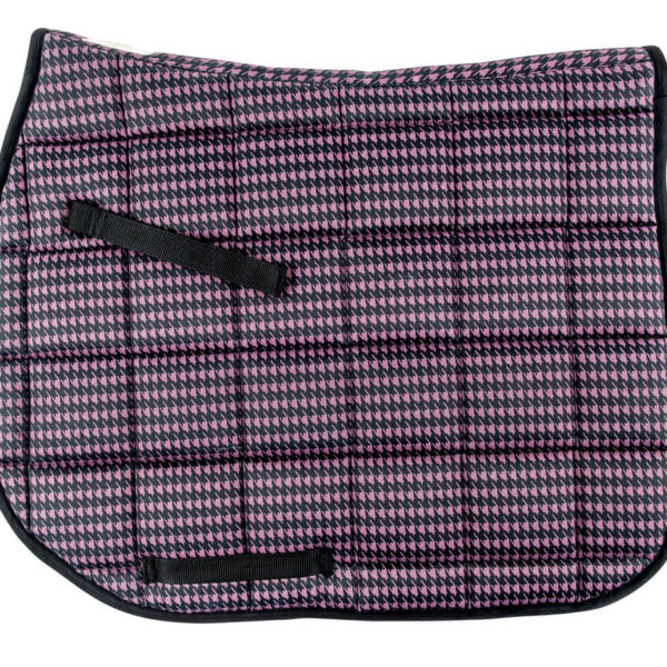 Lettia Houndstooth Dressage Pad Purple