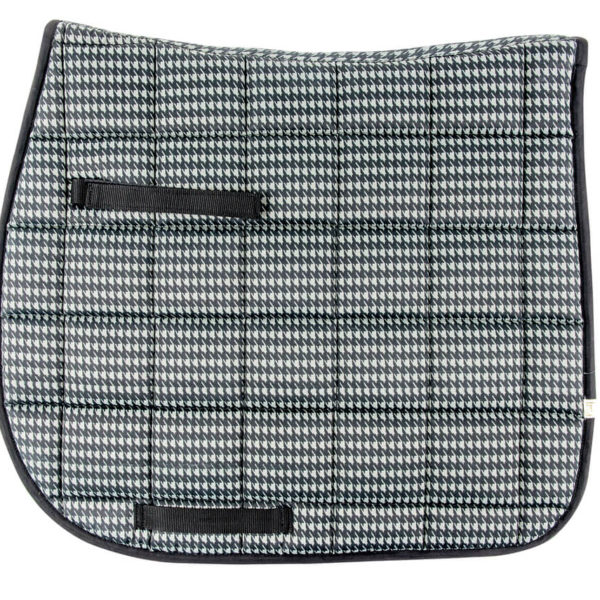 Lettia Houndstooth Dressage Pad Grey