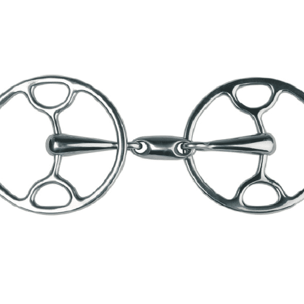 Metalab Double Jointed Sliding Gag With Oval Link Loose Ring Snaffle