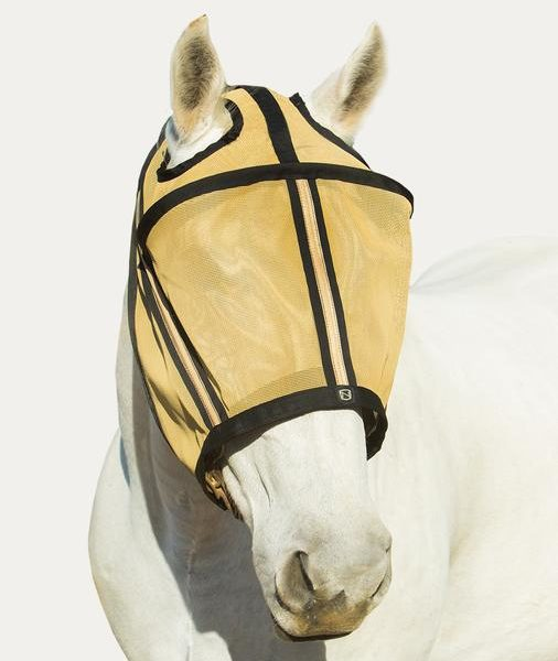 Noble Outfitters Guardman Fly Mask No Ears Gold