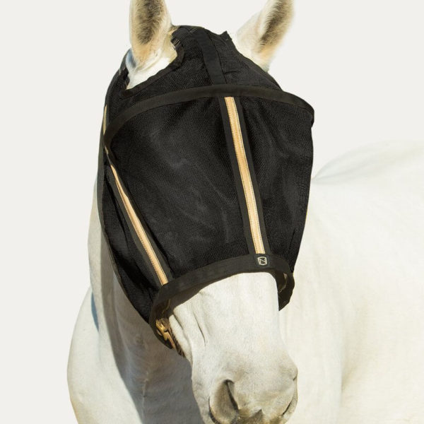 Noble Outfitters Guardsman Fly Mask No Ears Black