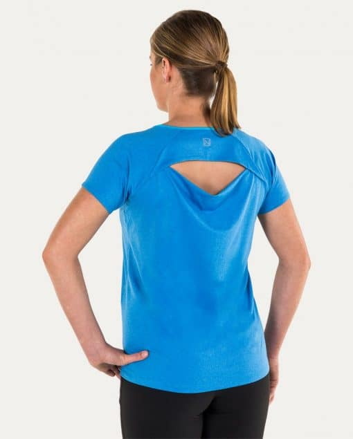 Noble Outfitters Kassidy Crew Women's Top Blue Tahoe Back