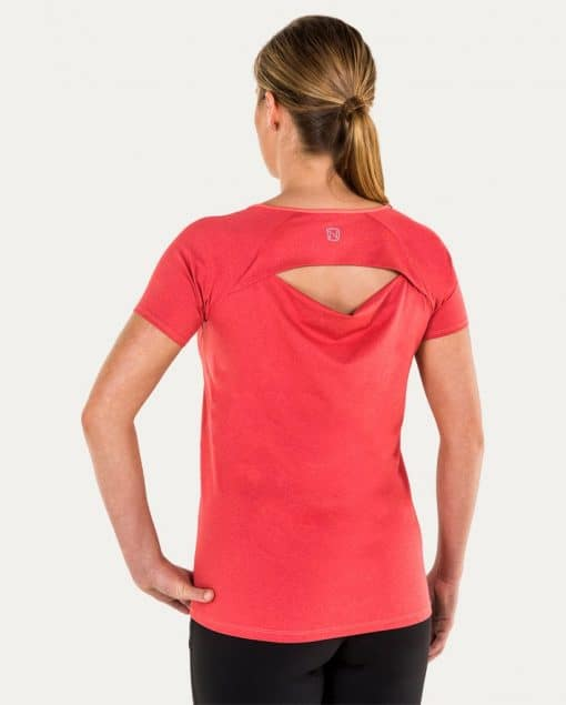 Noble Outfitters Kassidy Crew Women's Top Coral Back
