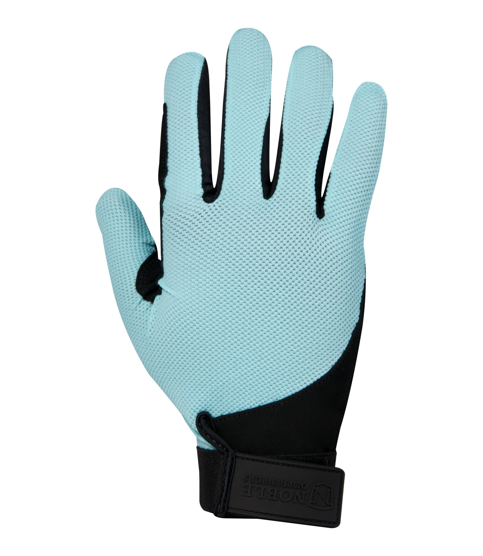 Noble Outfitters Gloves Perfect Fit Mesh Horseback Aqua Sky Turquoise Blue