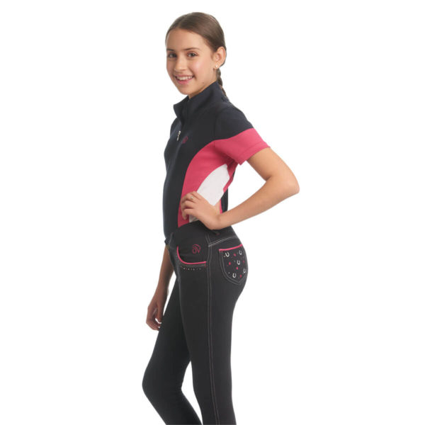 Ovation® Kid's Hearts & Horseshoe Breeches Navy