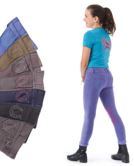Ovation® Horseshoe Jean Breeches Knee Patch