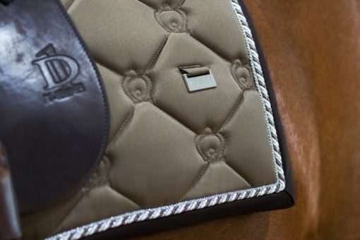 PS of Sweden Dressage Saddle Pad Monogram Iced Coffee