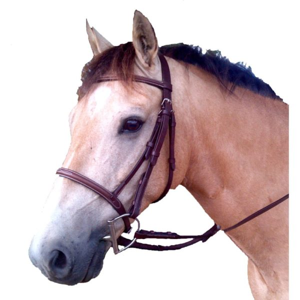 Pro Am Fancy Stitched Snaffle Bridle Pony Brown S