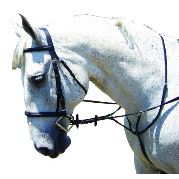 Pro-Trainer Raised Self Padded Snaffle Bridle Black Black Warmblood