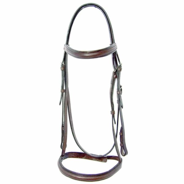 Pro-Trainer Raised Self Padded Snaffle Bridle Brown Brown Full