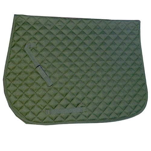Quilted All Purpose Saddle Pads Hunter Green
