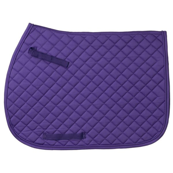 Quilted Square English Saddle Pad
