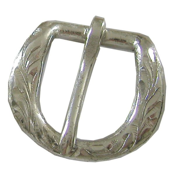 Silver #5 Buckle 5/8