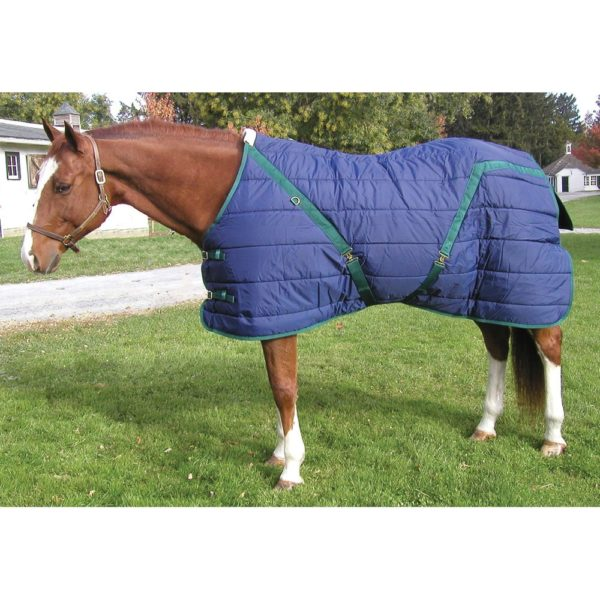 Snuggie Pony Stable Blanket Navy Navy / Hunter 66""