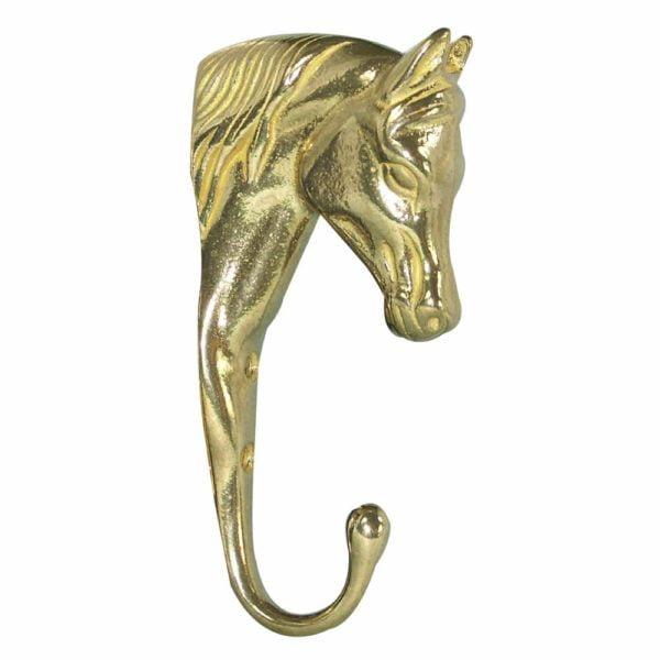 Solid Brass 3-D Horse Head Hook
