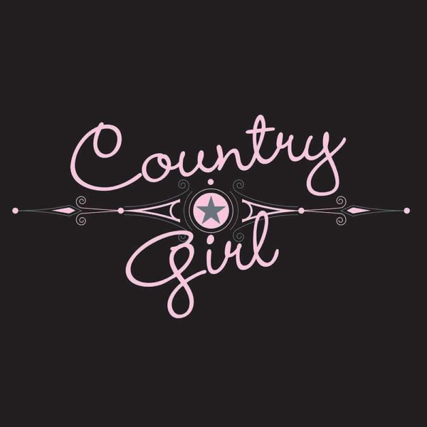 "Tee Shirt ""Country Girl"" S Black Female Adult"
