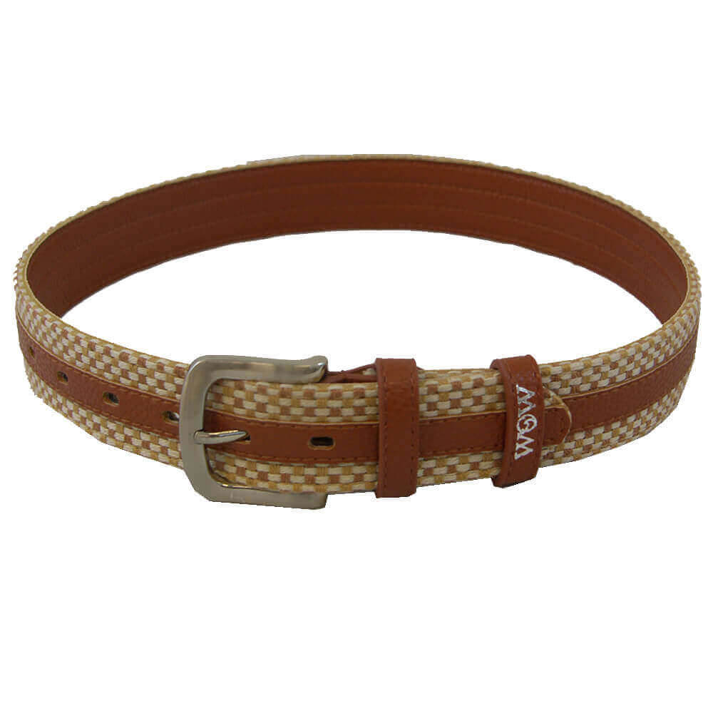 wow woven belt brown with weave
