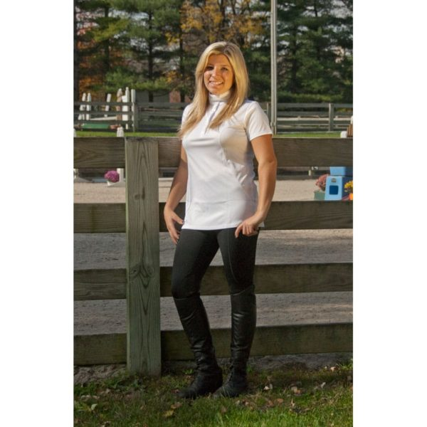 WOW Ladies Level One Show Riding Shirt White White XXL Adult Female