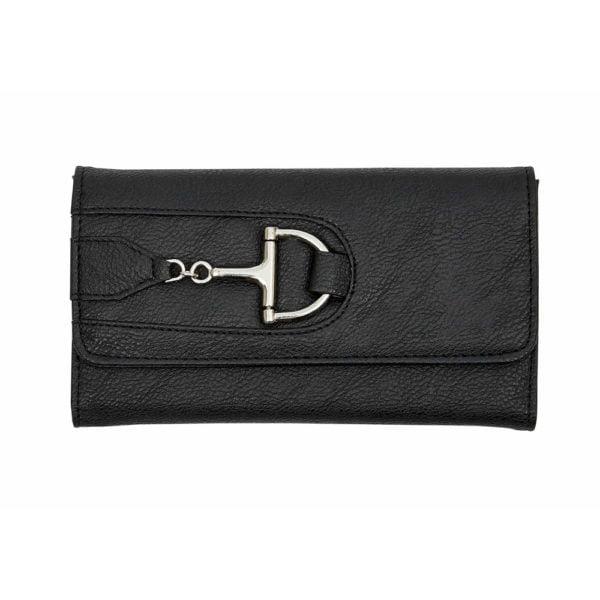 Wallet with Dee Snaffle Bit Black